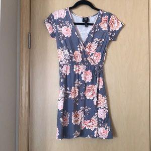 Derek Heart: Floral Wrap Dress